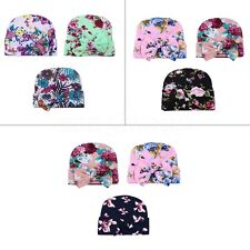 3Pcs Newborn Baby Girls Infant Toddler Floral Bow Hospital Cap Cotton Beanie Hat