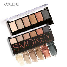 6 Color Eye Shadow Eyeshadow Palette Naked Smokey Powder Beauty Cosmetic Kit EB