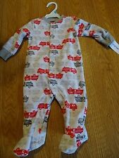 CARTER'S INFANT BOYS FIRE TRUCK SLEEPER SIZES 3 MONTH/6 MONTH NWT