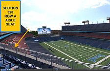 2 Carolina Panthers at Tennessee Titans preseason tickets in section 328 row A