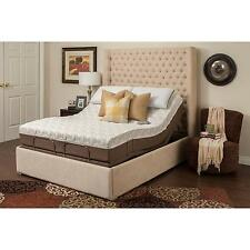 "Blissful Nights Dahlia 11"" Memory Foam Mattress with M 3000 Adjustable Bed..."