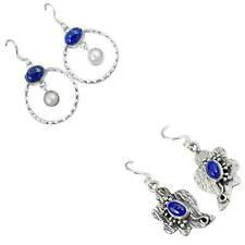 925 sterling silver lapis earrings jewelry by jewelexi 5555A