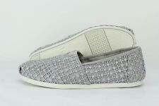 Toms Classic 10009728 Silver Crochet Lace Casual Slip-On Shoes (B, M) Women