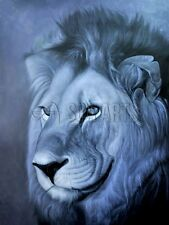 Handmade lion animal oil painting on canvas for home decoration art