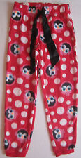 NWT Justice Girls Red Polka dot super soft fleece pajama pants size 6 7 NEW