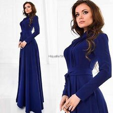 Women Ladies Long Sleeve Chiffon Maxi Long Evening Party Elegant Dress HE8Y01
