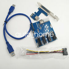 PCI-E 1X Expansion Kit 1 to 3 Ports Switch +PCIe 1 to 4 PCI Express 1X slots TOP