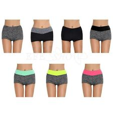 Girls Pants Women Sports Shorts Gym Workout Waistband Skinny Yoga Running Short