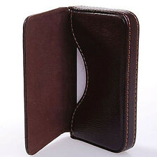 New Luxury Mens Leather Business Credit Card Name ID Credit Card Holder Wallet