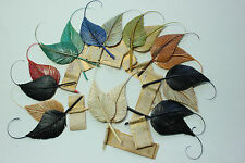 Vintage Feather Millinery Fancy Quill Leaf Trim made in France 3207 hat costume