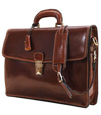 Floto Imports Luggage Milano Business Briefcase,Italian Calfskin Leather