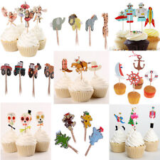 24pcs/Set Assorted Cupcake Picks Cake Topper Kids Baby Shower Party Decoration
