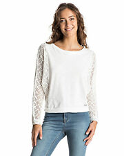 NEW ROXY™  Womens Talk To Me Lace Long Sleeve Top Womens