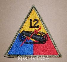 WW2 ERA US ARMY 12th TWELFTH ARMORED DIVISION PATCH
