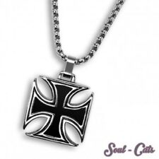 A cool Stainless Steel Pendant iron cross with or without chain iron cross