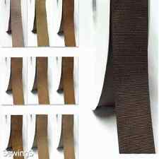 """top quality grosgrain ribbon 3"""" / 75mm widewholesale 100 yards ivory to brown"""