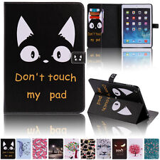 PU Leather Flip Case Card Holder Stand Folio Pouch Smart Cover For Apple iPad