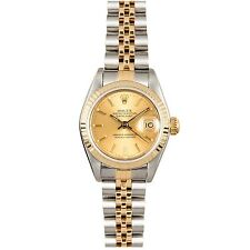 Rolex Ladies Datejust 18K Yellow Gold Gold & Steel Champagne Dial 179173 Jubilee