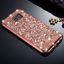 Luxury Slim Glitter Bling Diamond Soft TPU Back Case Cover For iPhone Samsung N