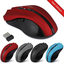 2400DPI 6 Keys 2.4GHz Wireless Optical Mouse For Laptop PC Computer USB Receiver