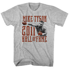 Mike Tyson Mens New Boxing T-Shirt 2011 Hall of Fame Gray Heather Sizes SM -2XL