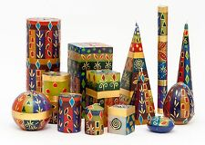 KAPULA FAIR TRADE SOUTH AFRICAN HAND PAINTED CANDLES - ' AFRICAN MINERAL DESIGN'