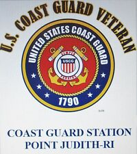 US COAST GUARD STATION POINT JUDITH-RI*COAST GUARD VETERAN EMBLEM*SHIRT