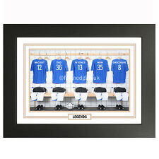 Personalised Rangers Legends Football Changing Room Shirts, Print Or Framed