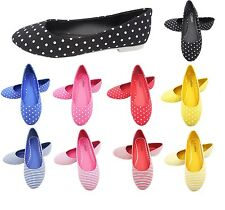 9 x Ballet Pumps - Ladies Dolly Shoes Womens Flat Summer Pumps -Chose your size