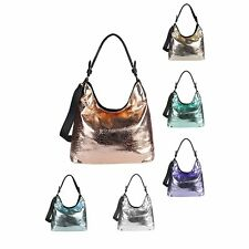 LADIES Bag SHOPPER METALLIC Tote Bag Handbag Shoulder bag Hobo bag