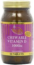 Vega Vitamins Chewable Vitamin D 1000iu - 60 Capsules