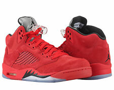 Nike Air Jordan 5 Retro Red Suede Flight Suit Men's Basketball Shoes 136027-602