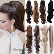 Real NEW Clip In Ponytail Tail Hair Extension Claw On Hair Piece Long Human PR5