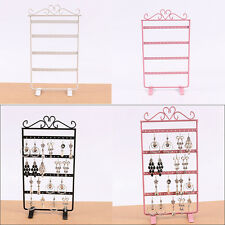 48 Holes Metal Earring Rings Jewelry Showcase Display Rack Stand Holder Organize