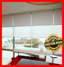 NEW! Custom Made Dual Double Roller Blinds 610 x 2400 Blind Blockout & Sunscreen