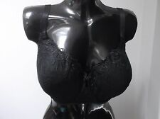 BNWT, stunning  black lace under wired, molded cup  balcony bra, NEXT,