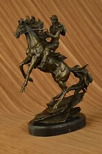 Large Original American Cowboy with Gun Sheriff Outlaw Western Art Bronze Statue