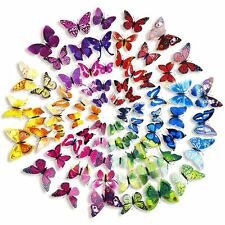 12pcs 3D DIY Butterfly PVC Art Decal Home Decor Kids Room Wall Mural Stickers US
