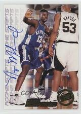 1998-99 Press Pass Double Threat Rookie Scripts #NAMO Nazr Mohammed Auto Card