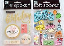Soft Spoken Birthday Stickers    New!   NIP