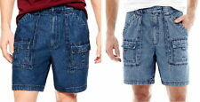 Mens St Johns Bay Denim Cargo Hiking Jeans Shorts Size 42 NWT