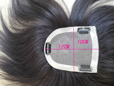 Mono & PU Real 100% Human Hair Topper Clip in Hairpiece Hair Top Piece Toupee