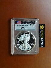 2016 W PROOF SILVER EAGLE PCGS PR70 DCAM MERCANTI PHILADELPHIA FIRST DAY ISSUE