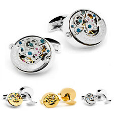 NEW Stainless Steel Watch Movement Cufflinks MENS cuff links WEDDING GROOM GIFT
