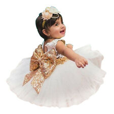 Girls Bowknot Lace Princess Skirt Summer Sequins Dresses for Baby Toddlers Kids