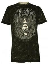 "AFFLICTION 2 in 1 Men's Vintage T-Shirt ""Deep South"" (Black White) MANUEL EHRBAR"
