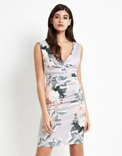 New Ladies Lipsy multi Floral Printed Wrap Bodycon Dress size 4 - 16 RRP £55