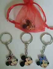 MINNIE MICKEY MOUSE KEYRING BAG CHARM PARTY BAG FILLER GIFT FAVOUR CHOOSE ITEM