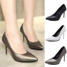 Womens Stiletto Slip on Pointed Toe Shallow Mouth Shoes High Heels Party Sandals