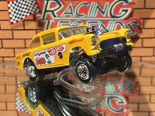 "Hot Wheels 55 Chevy Gasser""Don The Snake Prudhomme"" CUSTOM-PAINT-RR Tires"